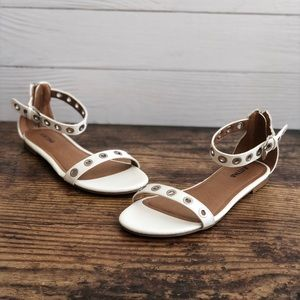 Just Fab Sierra White Sandals Size 7